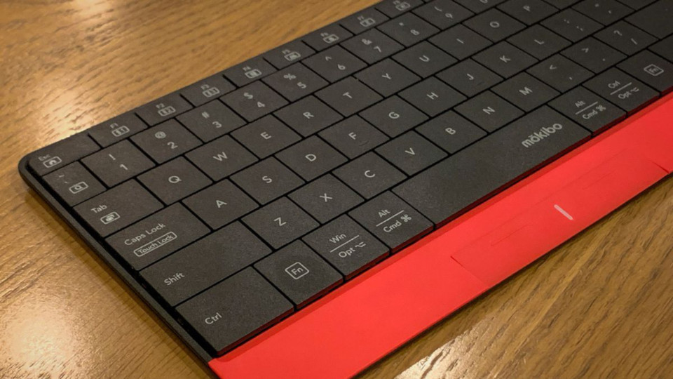 This hybrid keyboard-trackpad is almost a great iPad mouse solution