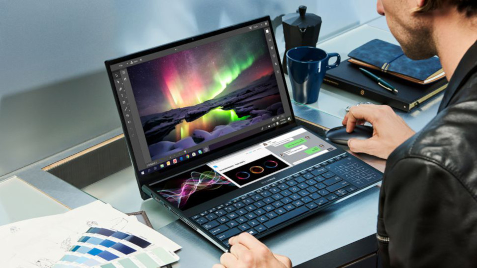Asus' new ZenBook Pro Duo integrates a huge touchscreen above the keyboard