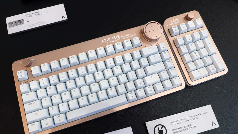 AZIO's gorgeous Iris keyboard is inspired by vintage cameras